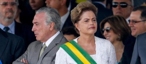 Michel Temer e Dilma Rousseff em posse