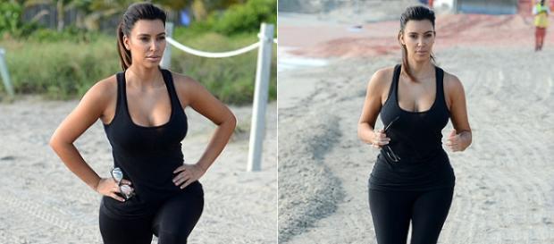 Depois de ter sido mãe pela segunda vez Kim já perdeu 19 quilos