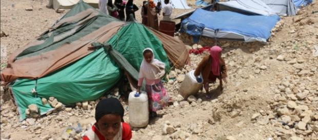 Khemir, displaced persons camp in Yemen. Amnesty International