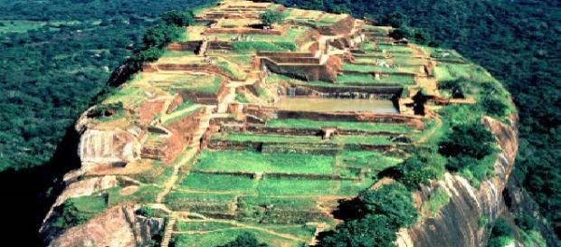 Imagen aérea del imponente Sigiriya