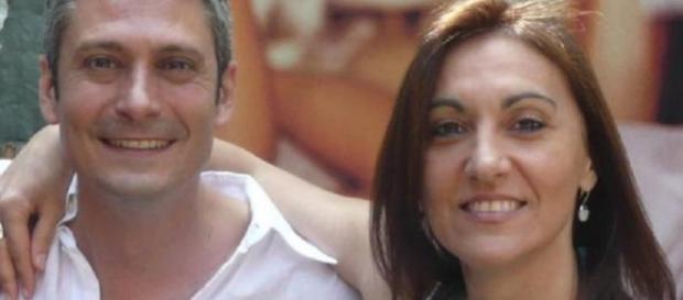 Patricia Rizzo insieme al cugino