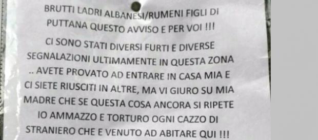 Un mesaj deosebit de dur a apărut în Italia