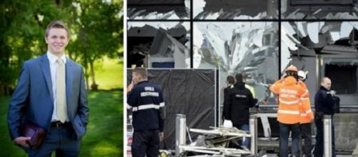 Foto Mason Wells y del atentado de Bruselas
