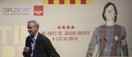 Johan Cruyff en la presentación de un documental sobre él.