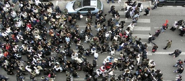 Bruselas suspende manifestación