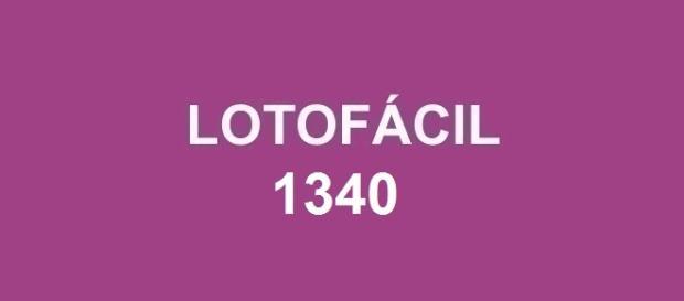 Concurso Lotofácil 1340 sorteado nesse sábado.