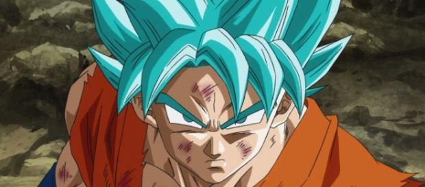 Gokú super saiyajin dios azul saga golden