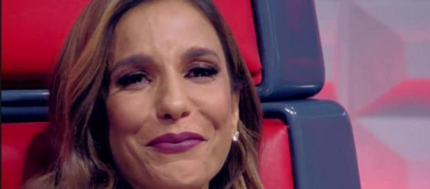 Ivete Sangalo chora na final do The Voice