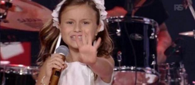 Rafa Gomes na final do The Voice Kids