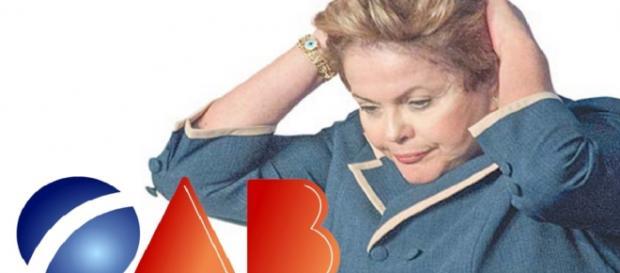 Dilma na mira da OAB - Foto/Montagem
