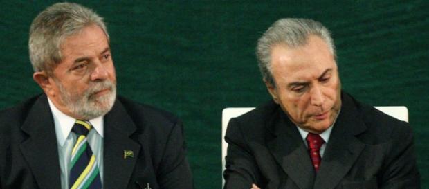 Ex-presidente Lula e vice-presidente Michel Temer.