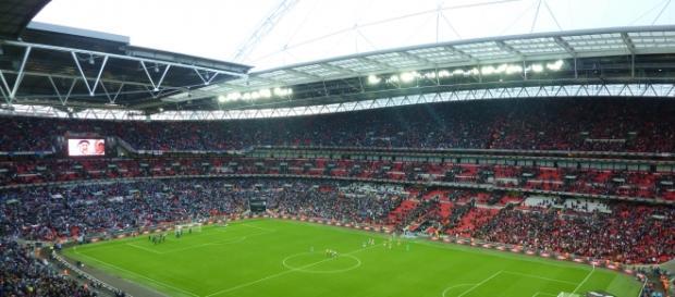 O Estádio de Wembley recebeu a final da Liga dos Campeões de 2013, entre o Bayern de Munique e o Borussia Dortmund.