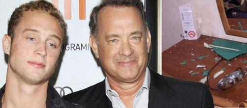 Chet e Tom Hanks, na época do incidente em Londres