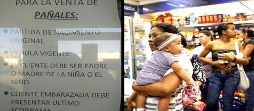 Las madres Venezolanas en busca de Pañal y Leche