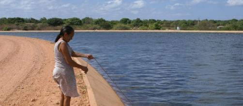 Obra pretende combater a escassez de água no Nordeste (Foto: Meu Blog de Política)