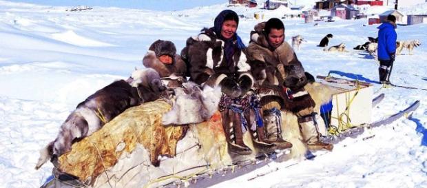 Fotografía del poblado de los Inuit