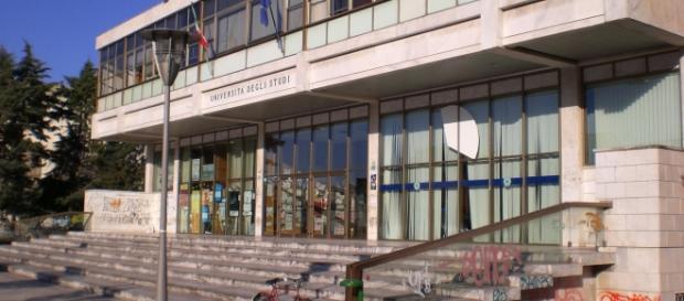 L'ingresso dell'Università del Salento.