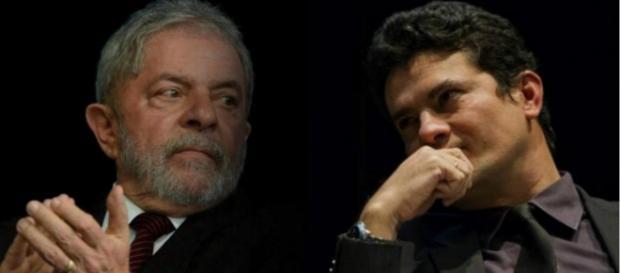 Lula e Sérgio Moro - Foto/Montagem