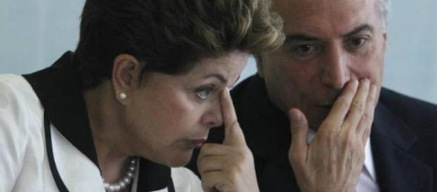 Presidente Dilma com seu vice Michel Temer