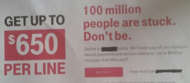 We will pay you to switch cellphone service providers
