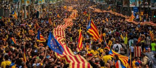 Manifestación a favor de la independencia.