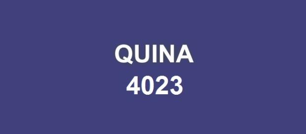 Sorteio de 500 mil reais na Quina 4023.