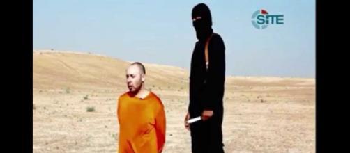 David Haines, de origen occidental, antes de ser decapitado por el Estado Islámico