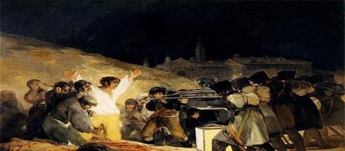 Famoso cuadro de Goya en 1814.