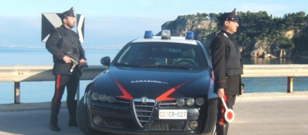 Posto di blocco dei carabinieri a Castellammare