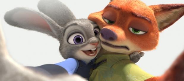 Selfie de los protagonistas de Zootropolis