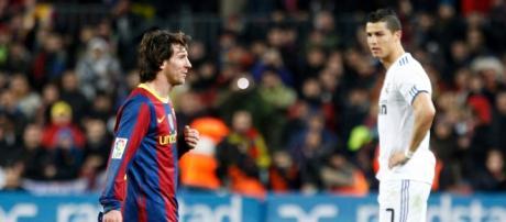 Messi e Cristiano Ronaldo em mais um frente-a-frente