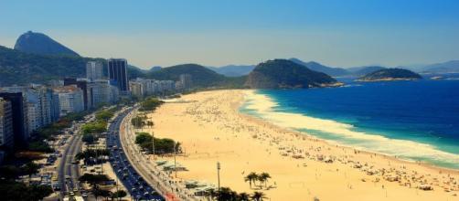 Foto tomada de una playa brasileña