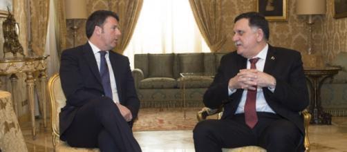 Il Premier Renzi e il leader libico designato dall'ONU Fayez Al-Serraj