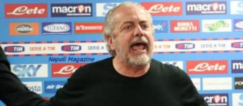 Il presidente del Napoli De Laurentiis