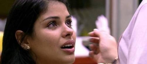 Munik emocionada no BBB16 (Reprodução/Globo)