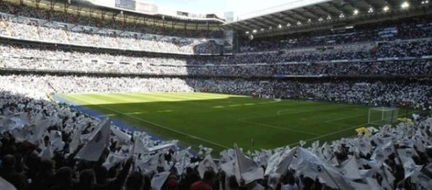 Animación en el Santiago Bernabéu