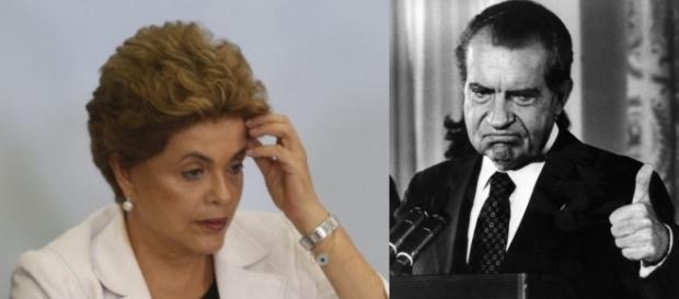 Dilma e Nixon - Foto/Montagem: Google