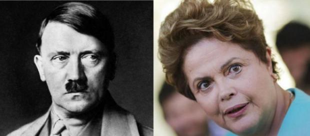 Hitler e Dilma Rousseff - Foto/Montagem