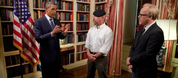 Obama meets the Mythbusters (White House)