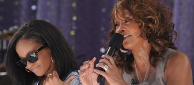 Bobbi aspired to sing like her mom.
