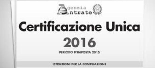 CU 2016: scadenza per l'invio entro il 7 marzo