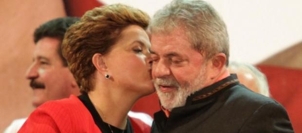 Dilma e Lula em campanha pelo PT