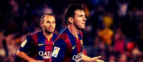 Messi e Iniesta, duas grandes estrelas do Barça