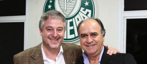 Marcelo Oliveira na sua apresentação no Alviverde