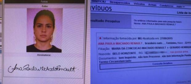 Ana Paula já foi presa em flagrante