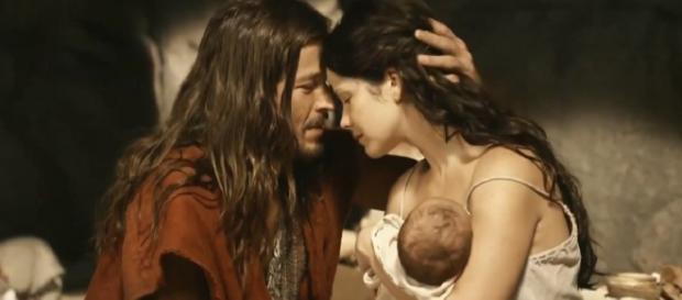 Anrão e Joquebede com o bebê Moisés
