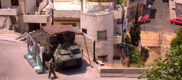 Check-point dell'esercito libanese a Tripoli