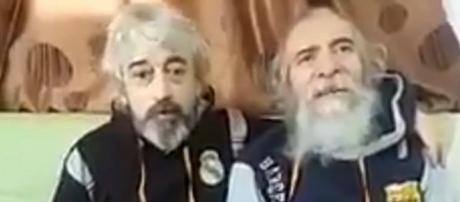 I due ex-ostaggi italiani liberati.