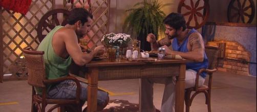 Matheus e Renan no almoço especial