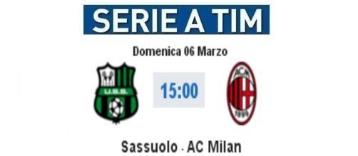 Sassuolo-Milan in diretta su BlastingNews